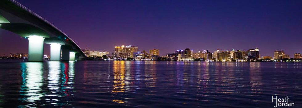 sarasota skyline night