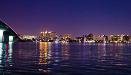 sarasota skyline night